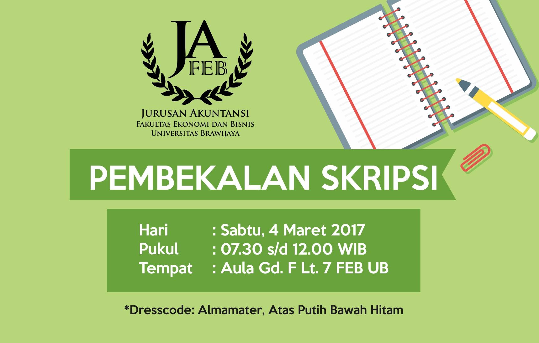 Pembekalan Skripsi Semester Genap 2016/2017