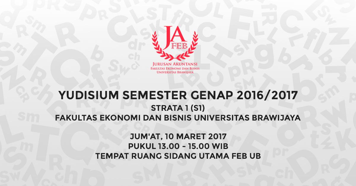 Yudisium Semester Genap TA 2016/2017