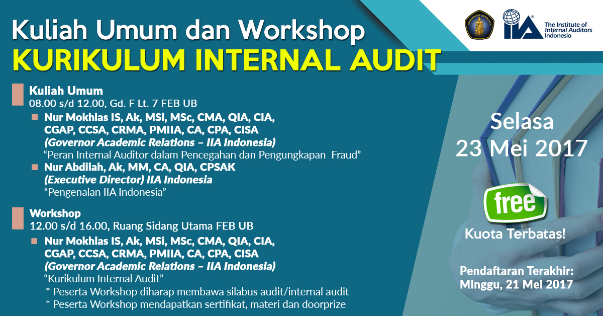 "Kuliah Umum dan Workshop ""Kurikulum Internal Audit"""