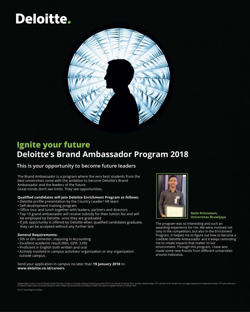 Deloitte Brand Ambassador Poster - Brawijaya